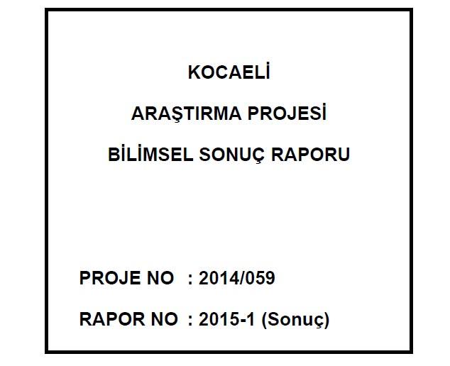 Kocaeli Üniversitesi Bilimsel Araştırma Raporu